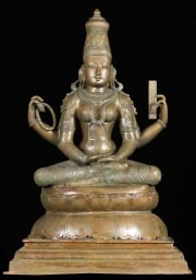 Bronze Statue of Meditating Saraswati 21