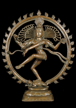 Antique Bronze 19th Century Nataraj Statue 36