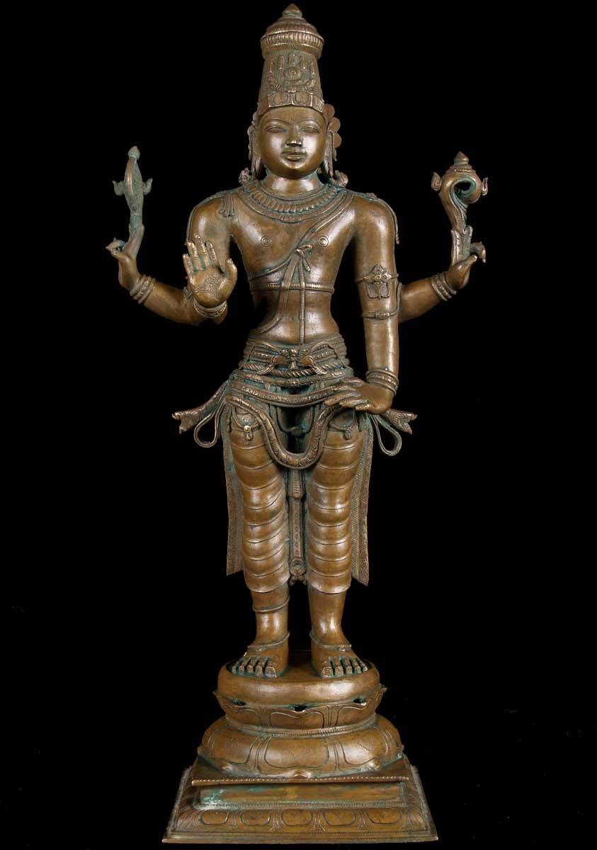 Sold Vishnu Statue 22 Quot 56b59 Hindu Gods Amp Buddha Statues