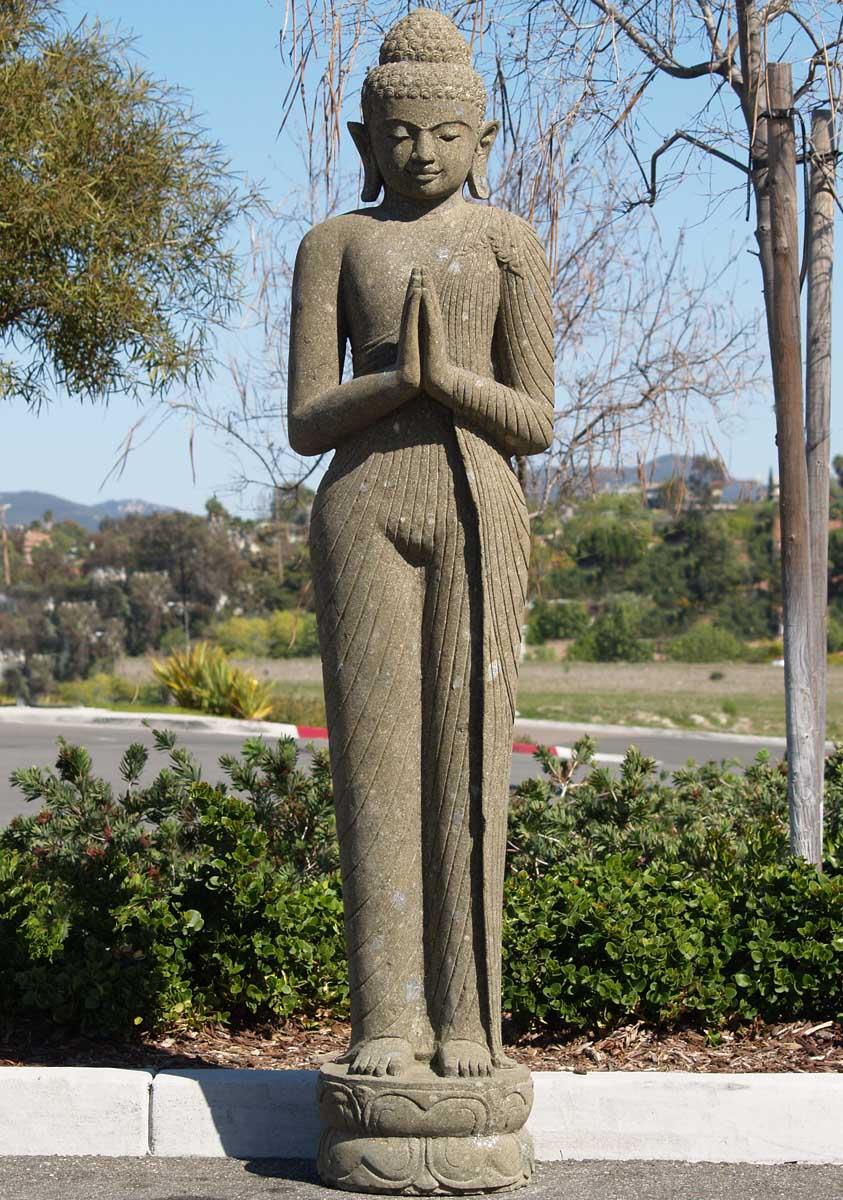 Sold Tall Standing Buddha Sculpture 80 Quot 59ls11 Hindu