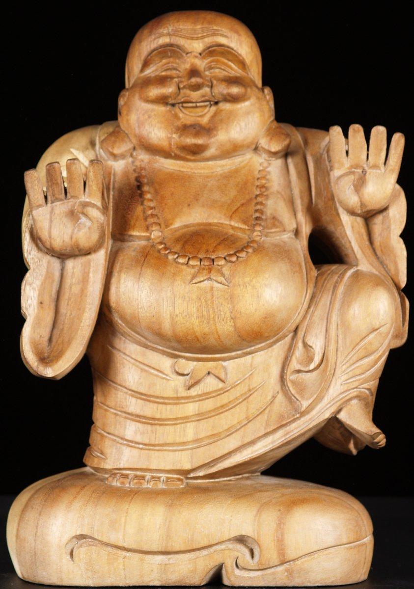 Sold Fat Amp Happy Buddha Statue 16 Quot Bw29 Hindu Gods