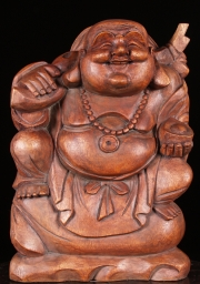 Laughing Buddha Statue Seated on Gold 25
