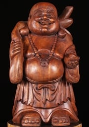 Standing Fat  Happy Indonesian Buddha Statue 24