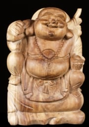 Seated Fat  Happy Buddha Statue 16