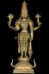 Bronze Statue of Lord Vishnu the Preserver 155