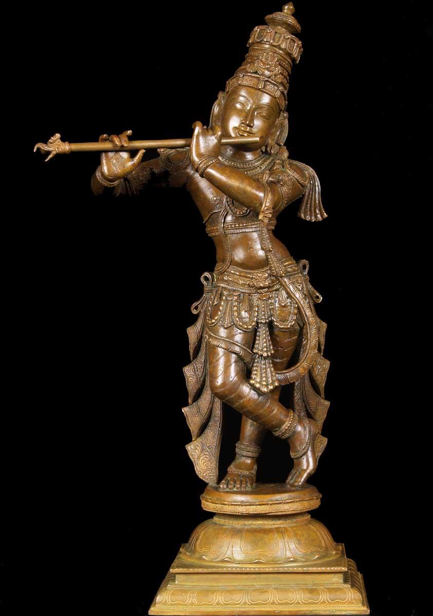"SOLD Gopal Krishna Playing Flute 24"" (#9bc12): Hindu Gods ..."