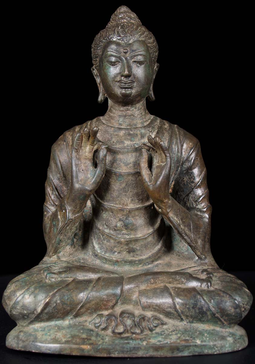 Ancient Indian Buddha Gandhara style buddha statue