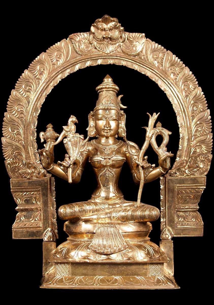 Sold Seated Kamatchi Of Kanchipuram Statue 22 Quot 57b27