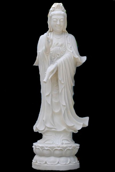 White Marble Statue : Large white marble kwan yin statue quot hindu