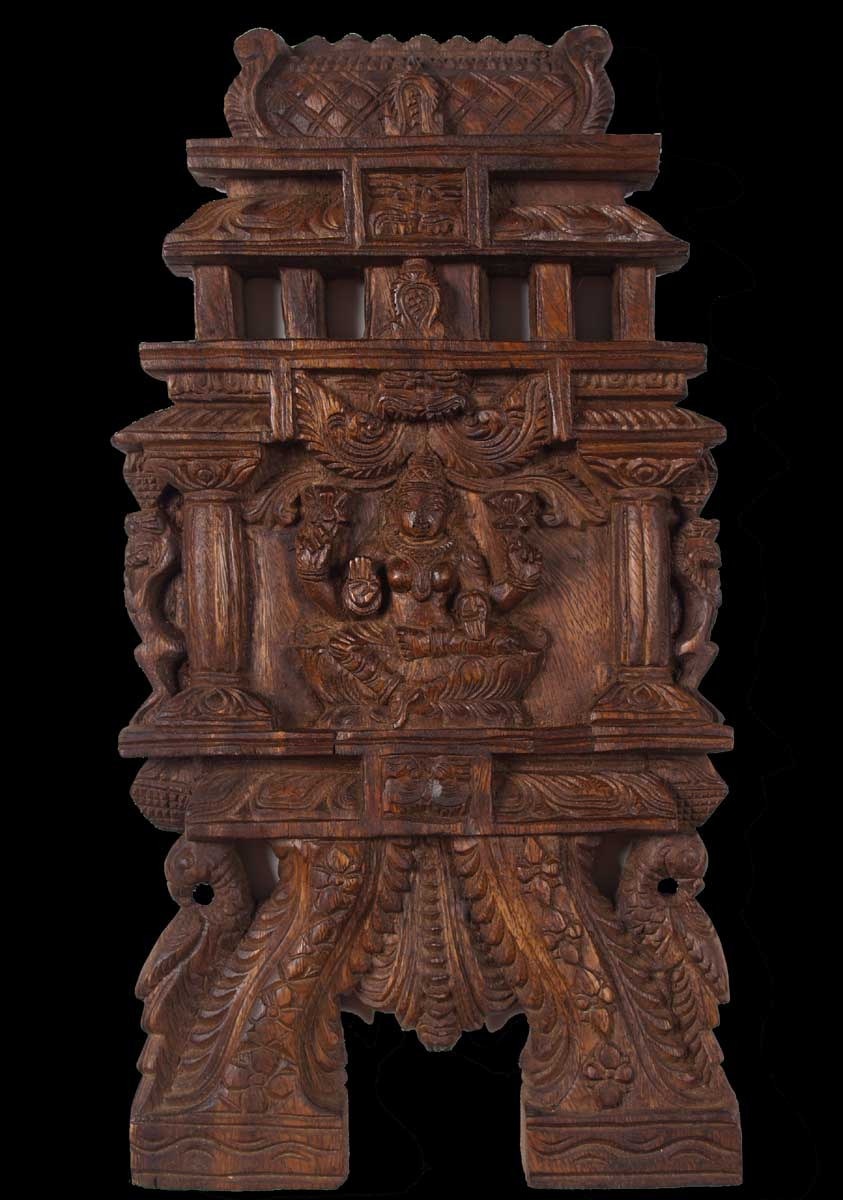 Sold Wood Lakshmi Kavadi Statue 18 Quot 59w4g Hindu Gods