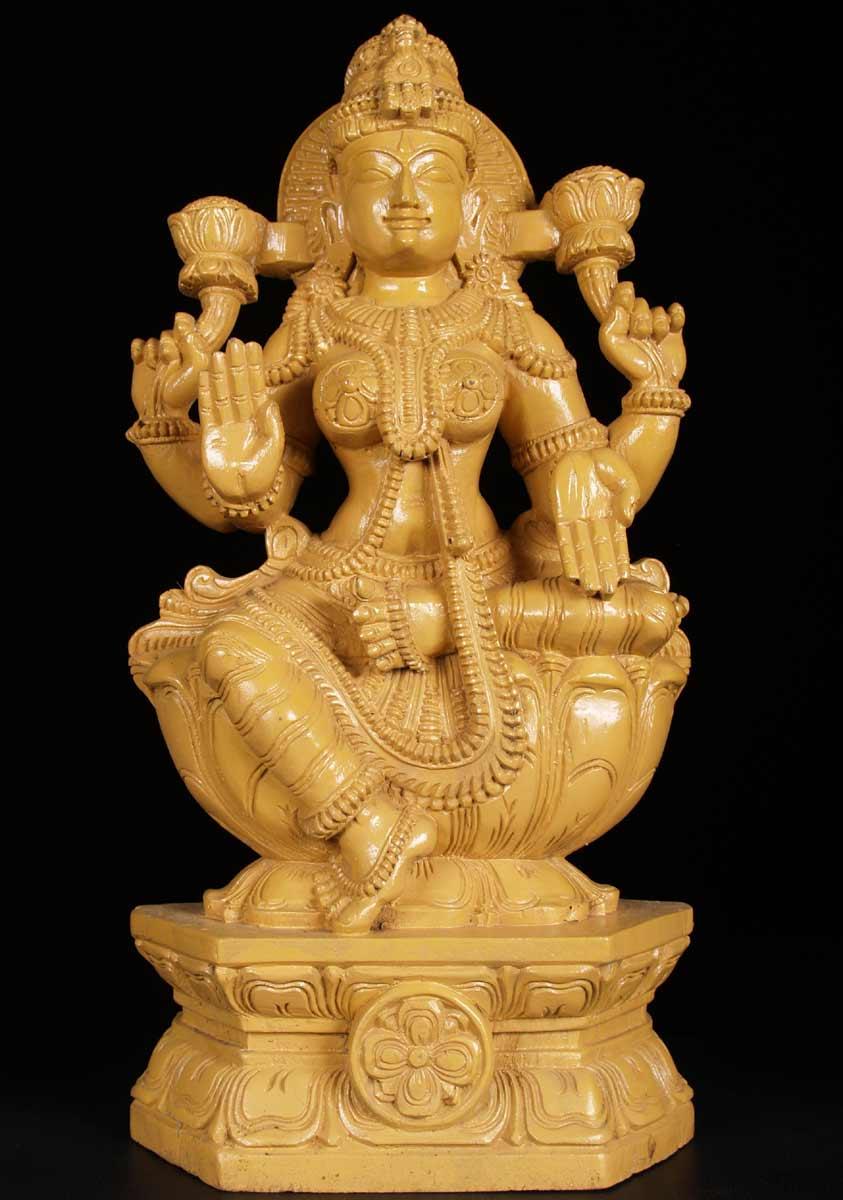sold wooden lakshmi statue 24quot 59w2m hindu gods