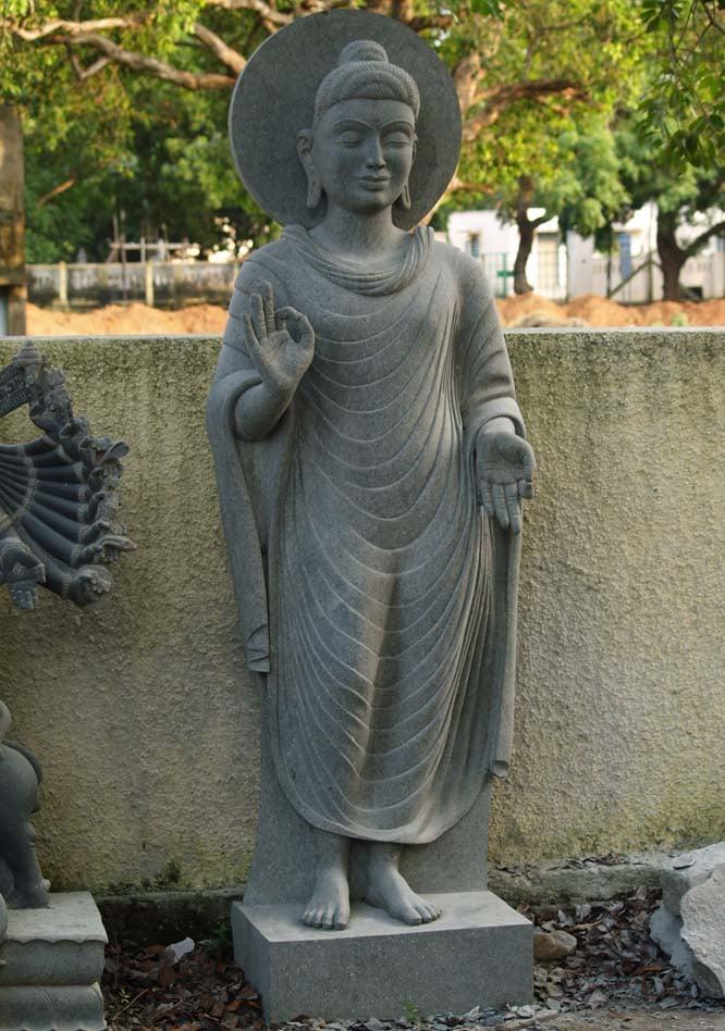 Stone Large Teaching Gandhara Buddha Statue 102 32g13 Hindu Gods Buddha Statues