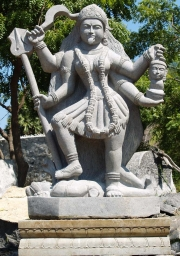 Statue of Kali Standing on Shiva 87