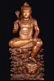Abhaya Shiva Statue Seated on Lion 60
