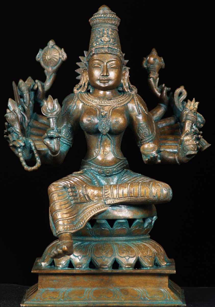 Sold Bronze Mahasaraswati Statue 15 Quot 57b45 Hindu Gods
