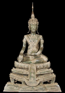 Brass Beautiful Thai Royal Buddha Statue 45