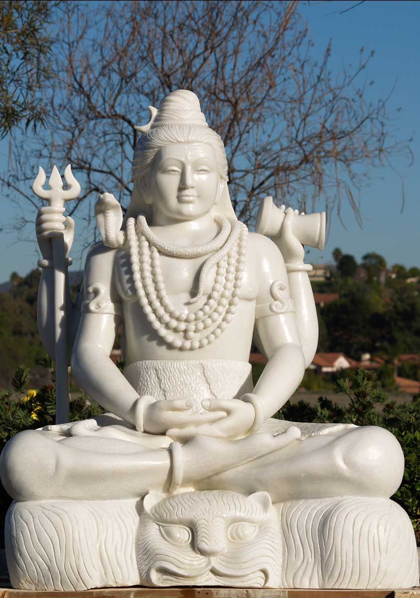 Sold Marble Meditating Siva Sculpture 48 Quot 45w103 Hindu