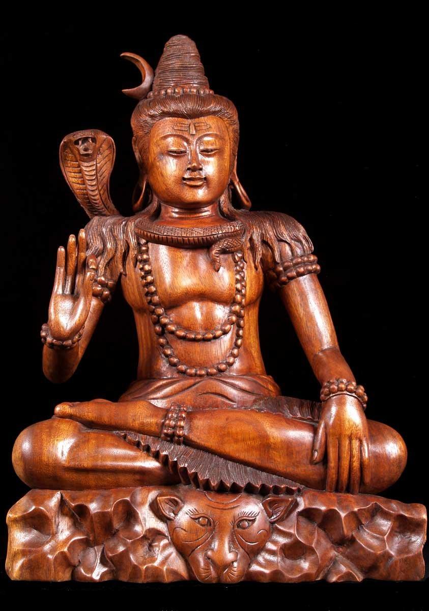 sold shiva seated in abhaya mudra 21quot 4w1 hindu gods