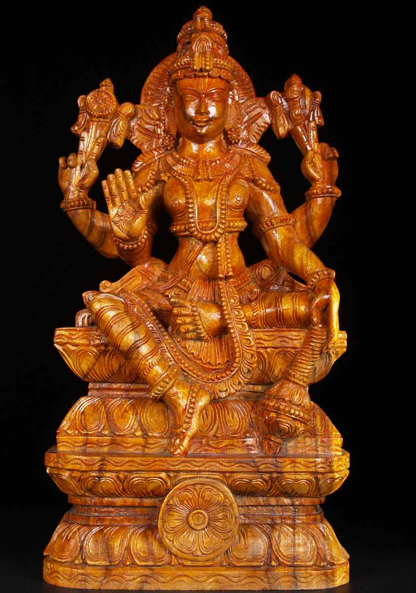 """What Is Freight Shipping >> SOLD Wooden Lord Vishnu Statue 24"""" (#59w2v): Hindu Gods ..."""