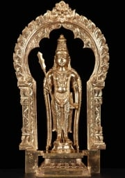 Bronze Murugan Holidng Vel  Staff 195