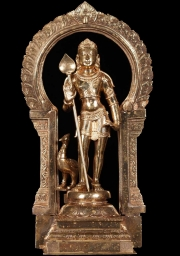 Bronze Bala Murugan Statue with Vel 18