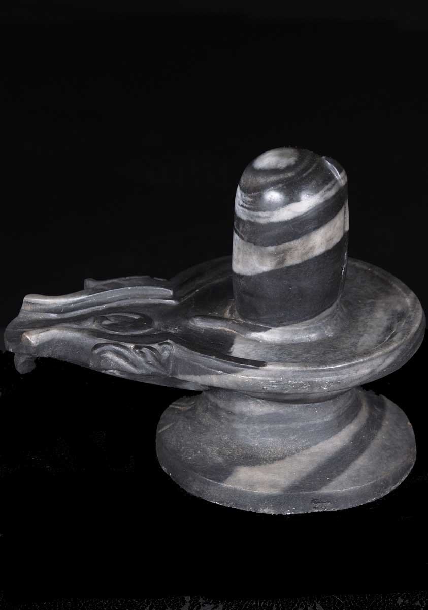 Sold Siva Lingam With White Veins 12 Quot B Lingam Hindu