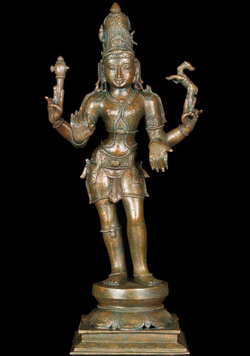 Bronze Standing Abhaya Siva Statue 18 Quot 60b80 Hindu