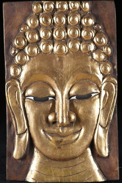 Sold gold leaf wood carving of the buddha quot t