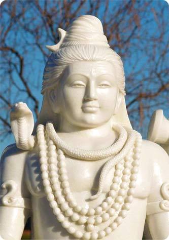 White Marble Hindu God Shiva